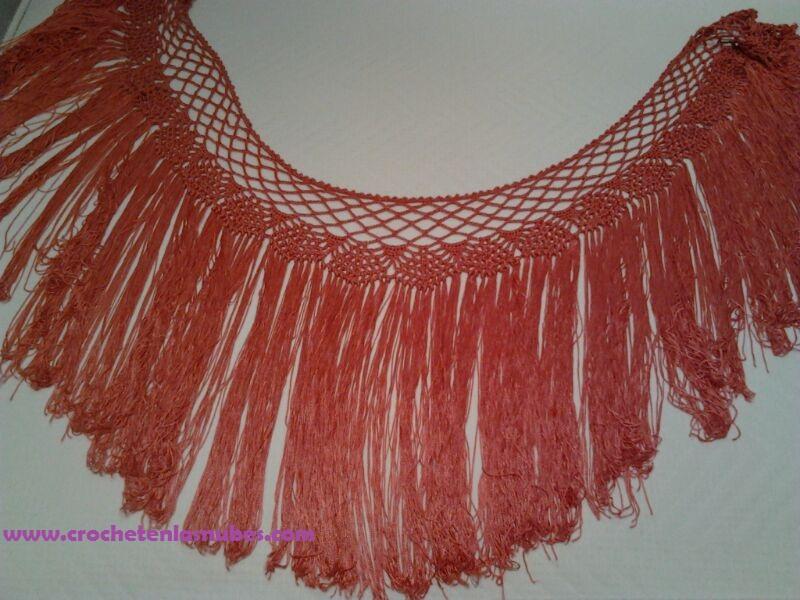 MANTONCILLOS feria ROJO FUEGO | Crochet en las nubes