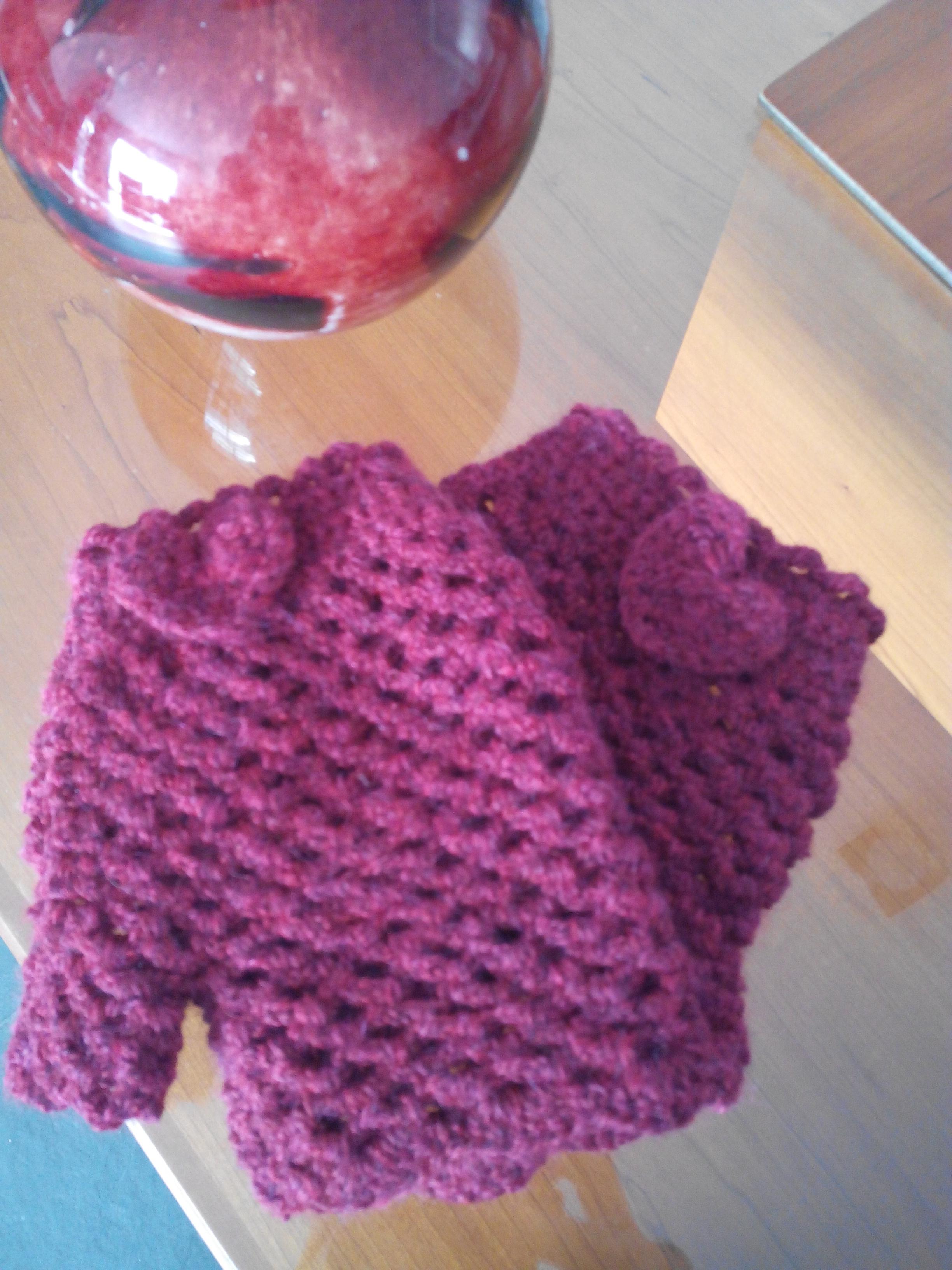 Guantes crochet sin dedos punto arco | Crochet en las nubes